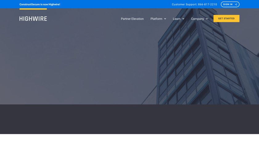 HighWire Landing Page