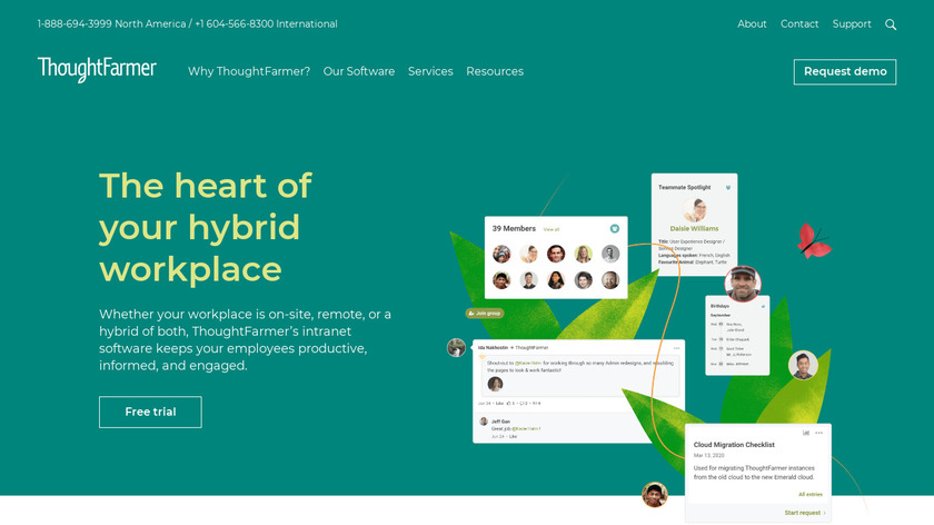ThoughtFarmer Landing Page