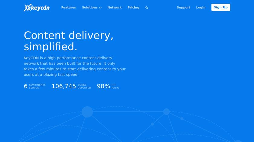 KeyCDN Landing Page