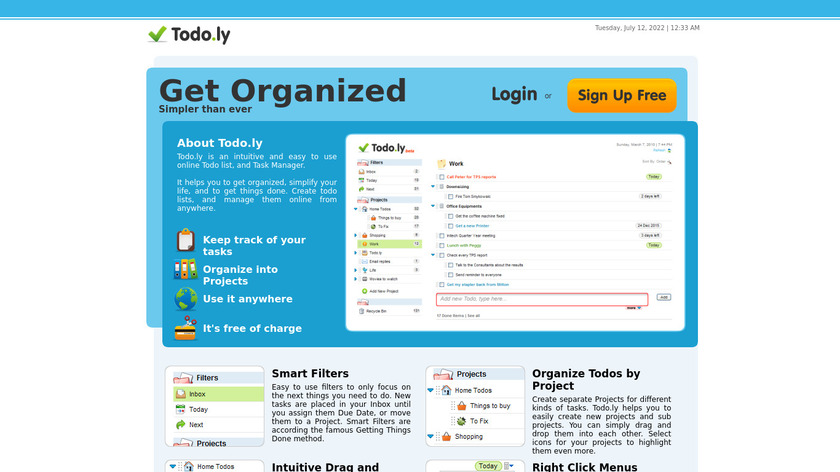Todo.ly Landing Page