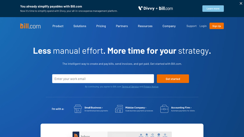 Bill.com Landing Page