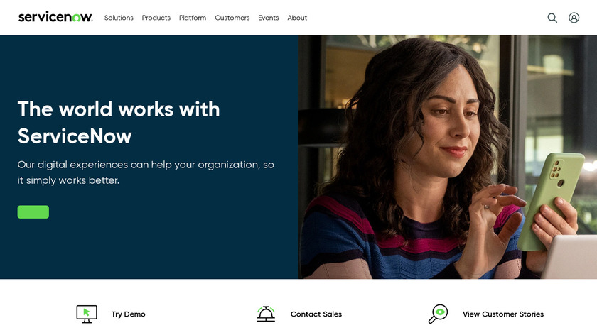ServiceNow Landing Page