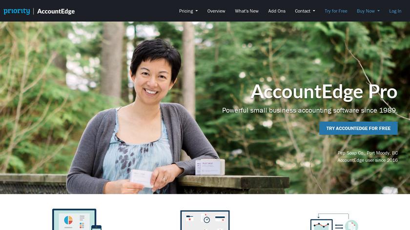 AccountEdge Landing Page