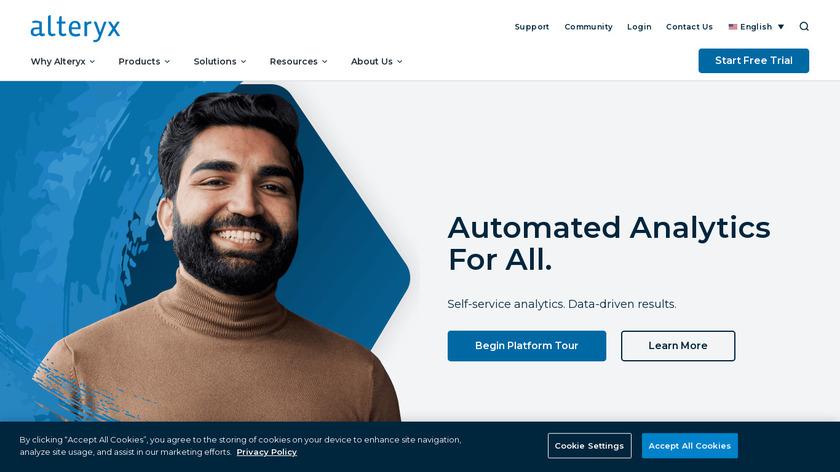 Alteryx Landing Page