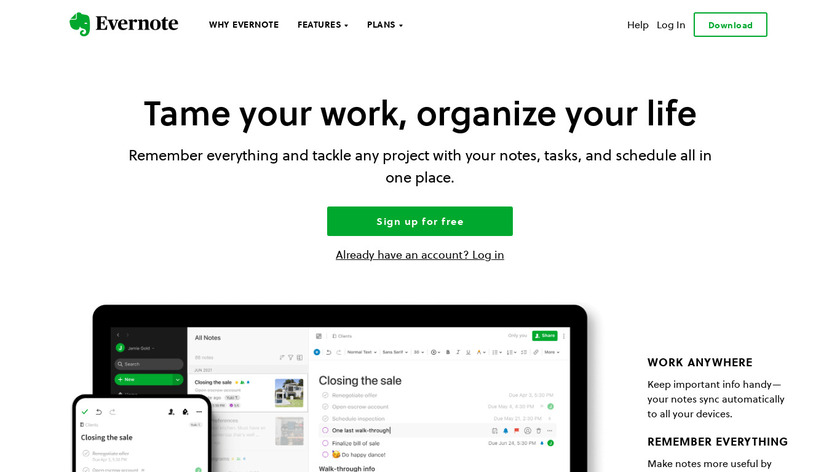 Evernote Landing Page
