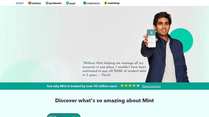 Mint Landing Page