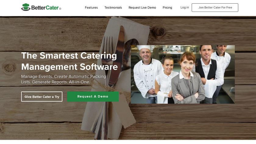 BetterCater Landing Page