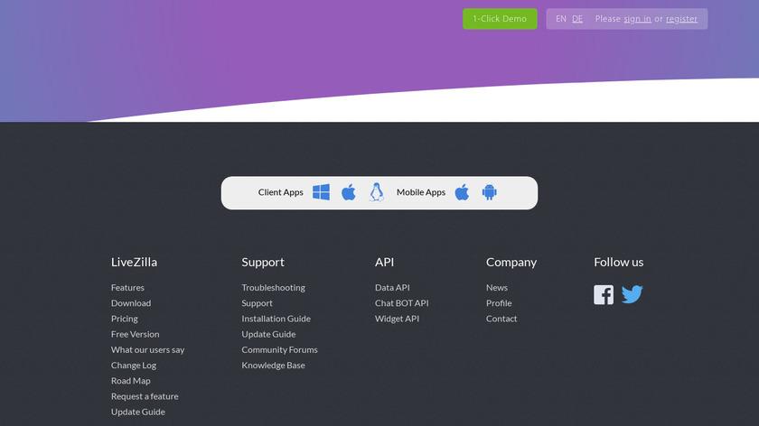 LiveZilla Landing Page