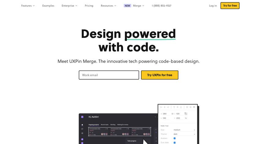 UXpin Landing Page