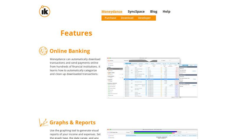 MoneyDance Landing Page