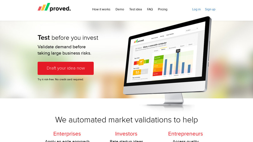 Proved Landing Page