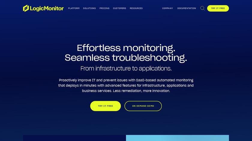 LogicMonitor Landing Page