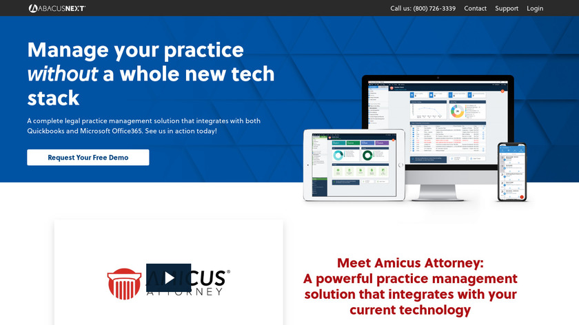 Amicus Attorney Landing Page