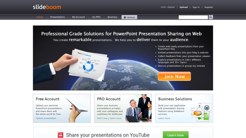 SlideBoom Landing Page