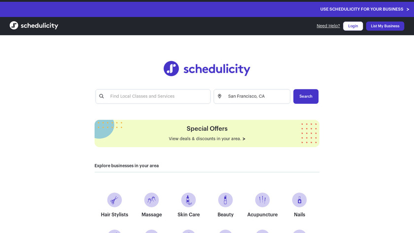 Schedulicity Landing Page
