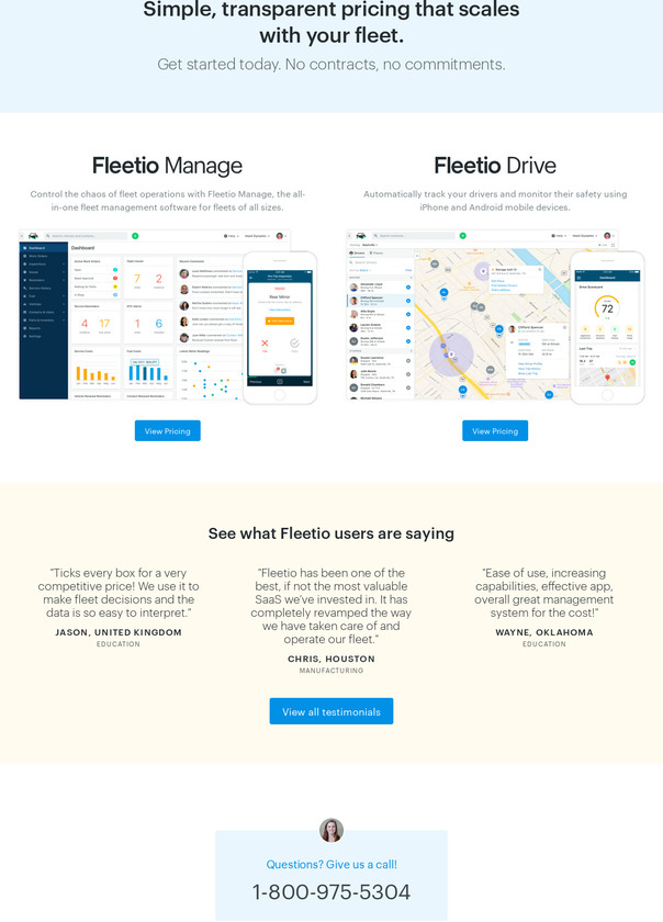 Fleetio Pricing