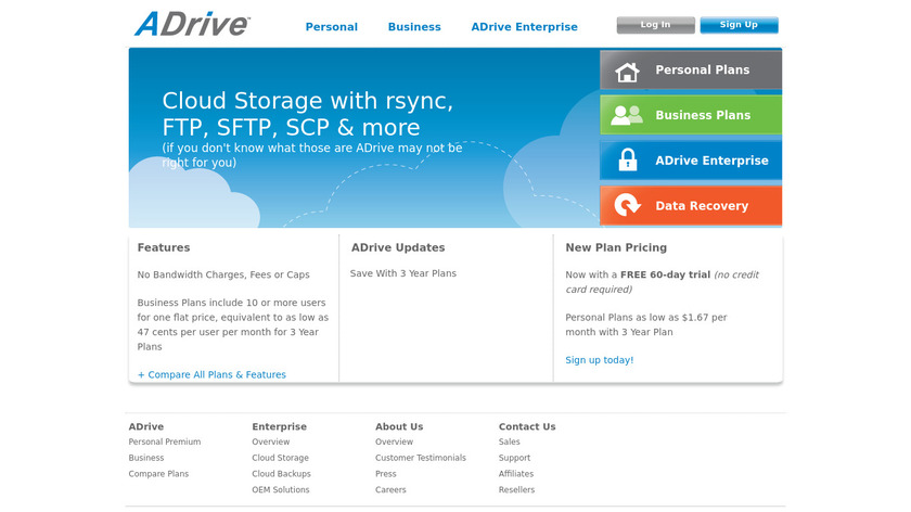 ADrive Landing Page