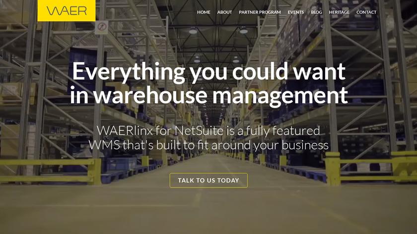 WAERlinx Landing Page