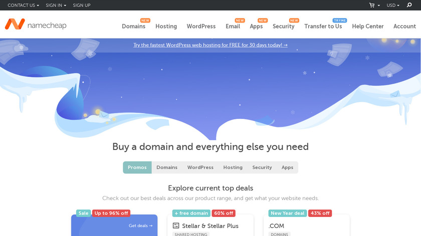 Namecheap Landing Page