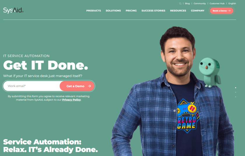 SysAid Landing Page