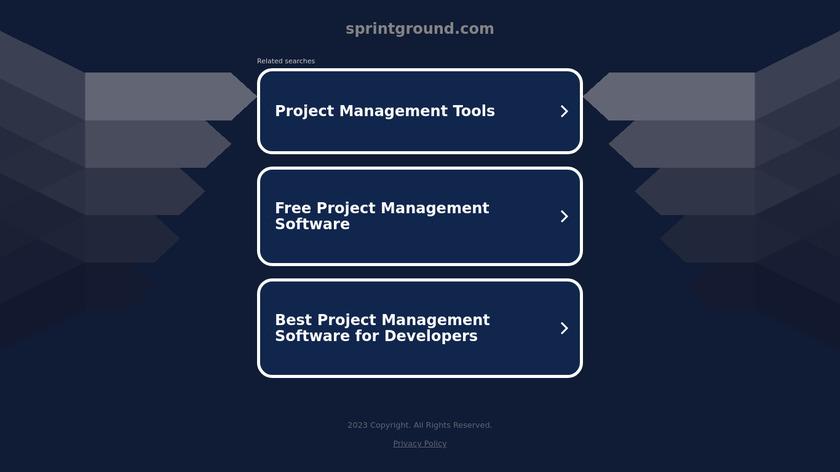 SprintGround Landing Page