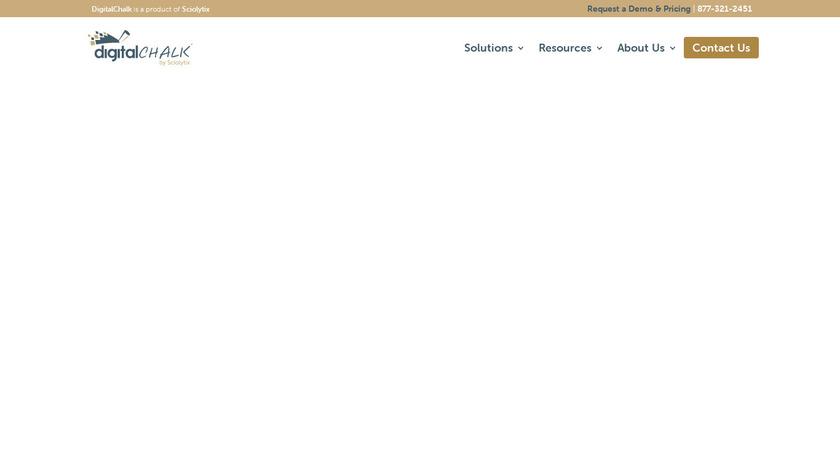 DigitalChalk Landing Page