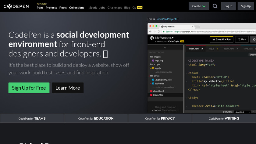 CodePen Landing Page