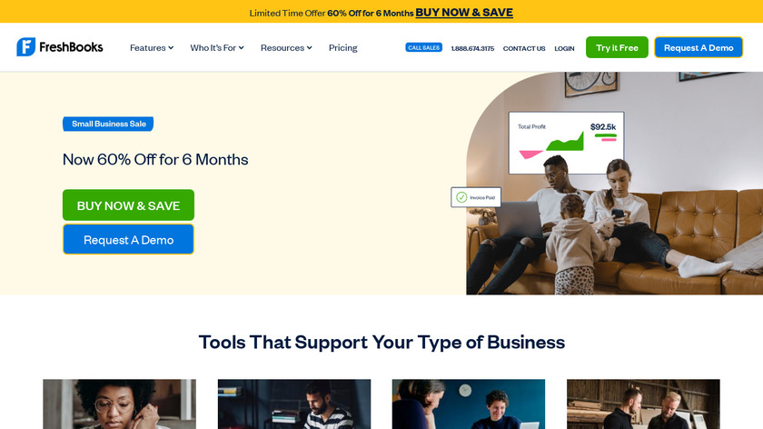 FreshBooks Landing Page