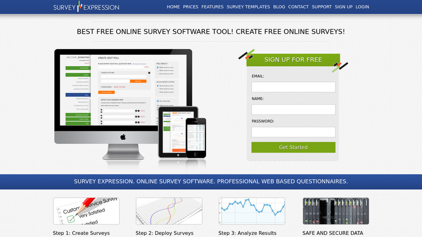 SurveyExpression Landing Page