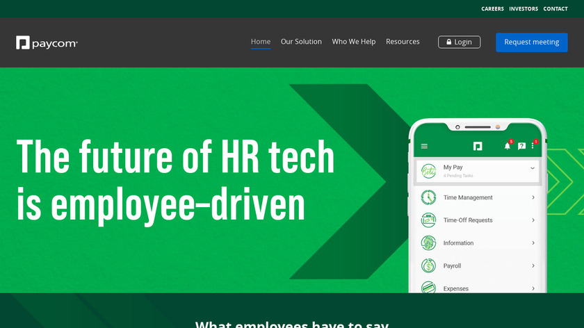 Paycom Landing Page