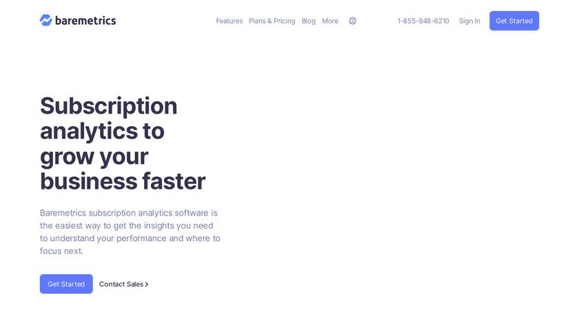 BareMetrics Landing Page