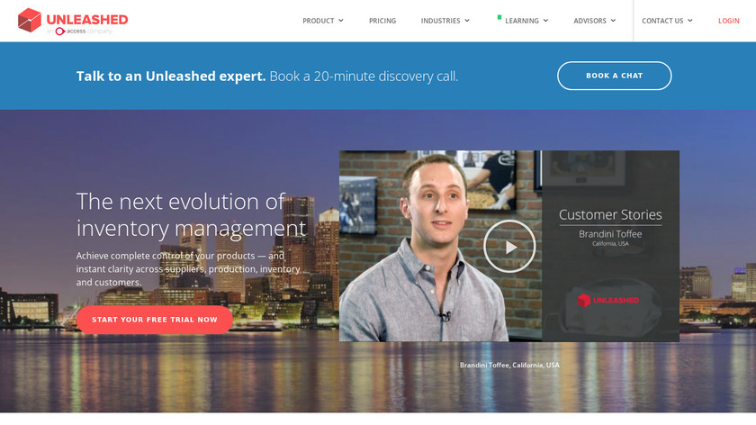 Unleashed Software Landing Page