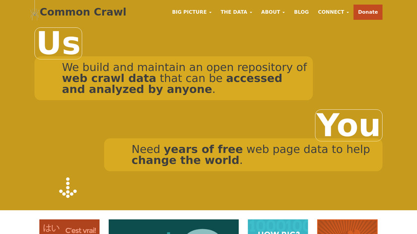 CommonCrawl Landing Page