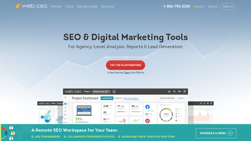 WebCEO Landing Page