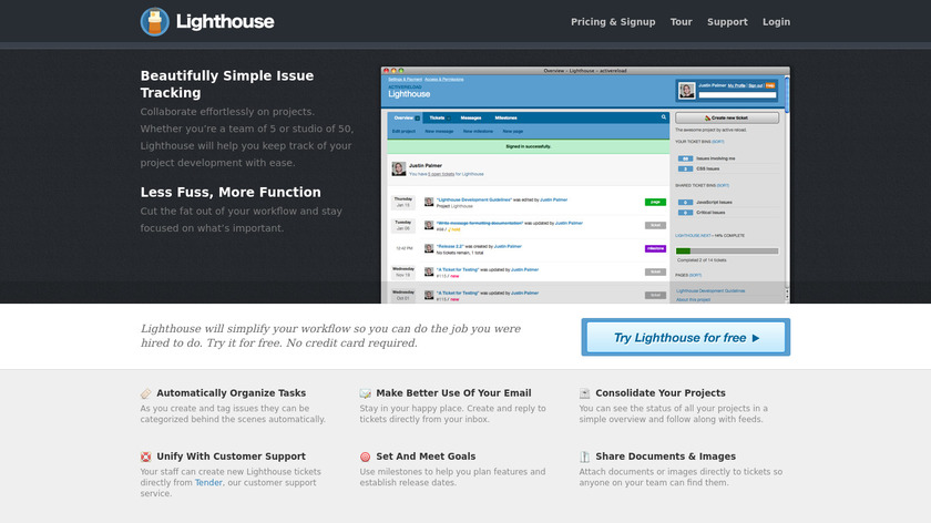 Lighthouse Landing Page