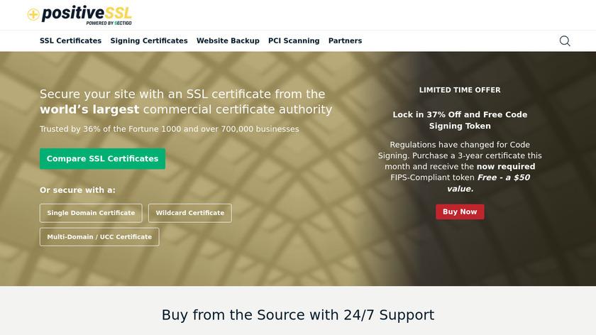 Positive SSL Landing Page