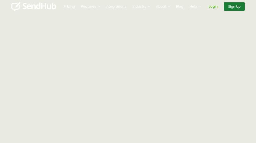 SendHub Landing Page