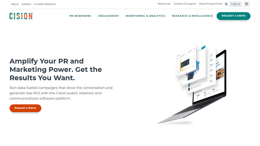 Cision Landing Page