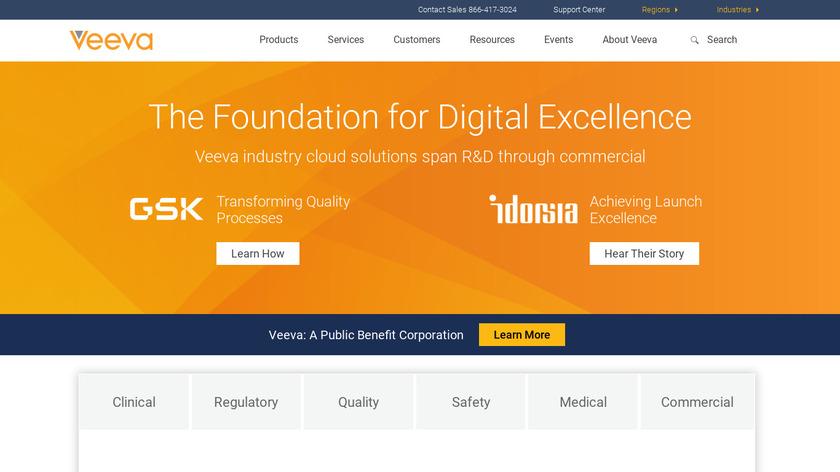 Veeva CRM Landing Page