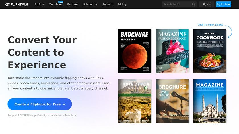 Flip HTML5 Landing Page