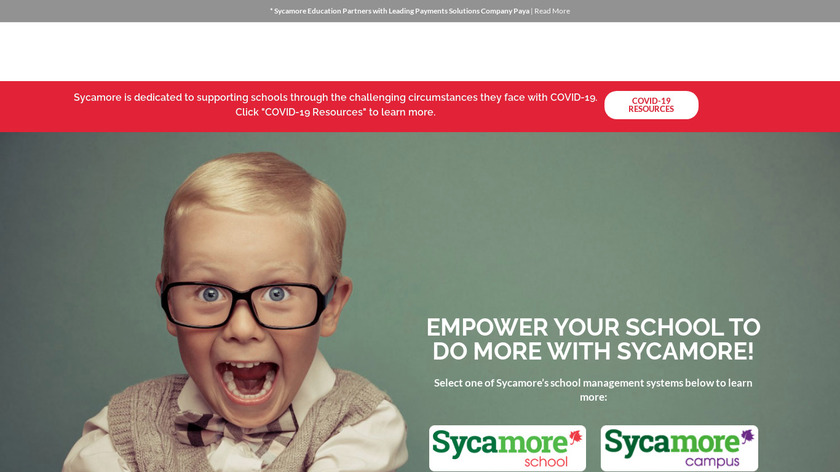 Sycamore Education Landing Page