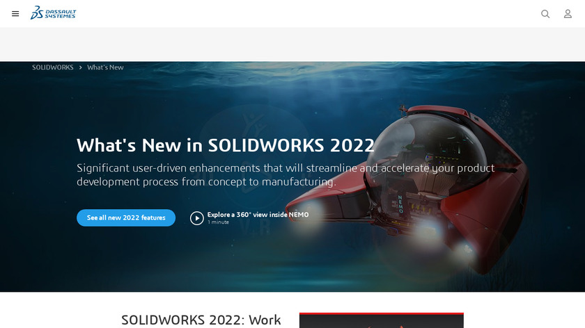 SolidWorks Landing Page