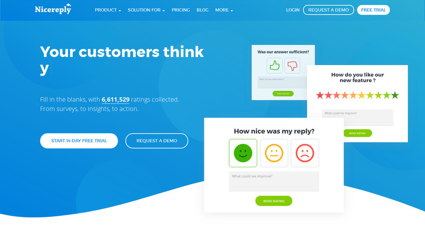 Nicereply.com Landing Page