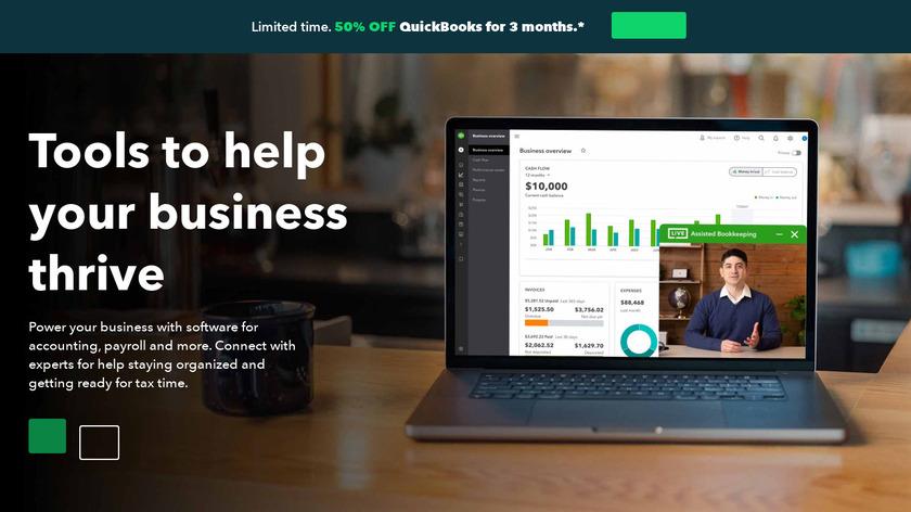 QuickBooks Landing Page