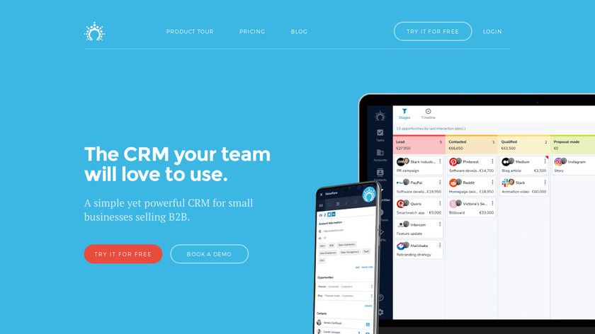Salesflare Landing Page