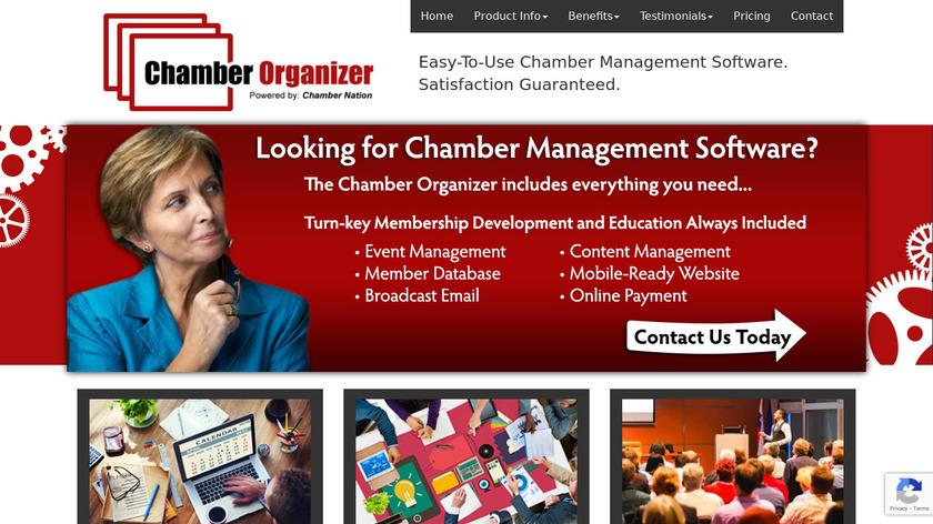 Chamber Organizer Landing Page