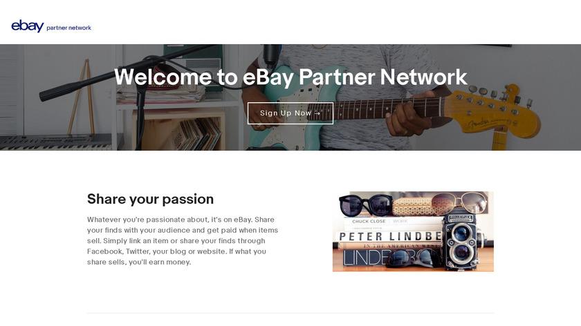 eBay Partner Network Landing Page