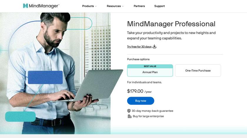MindManager Landing Page