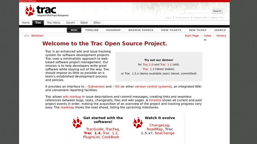 Trac Landing Page