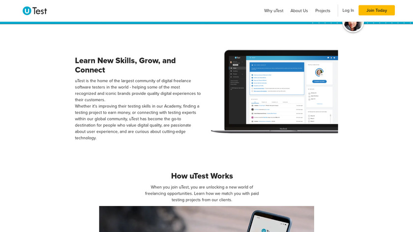 UTest Landing Page